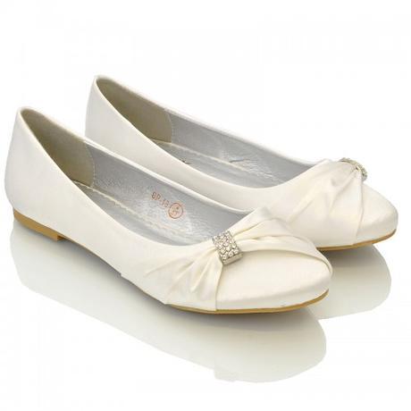 Ivory saténové svatební baleríny, 36-41, 40
