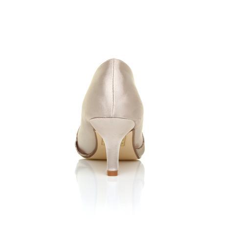 Ivory saténové svatební lodičky, nízký podpatek, 40