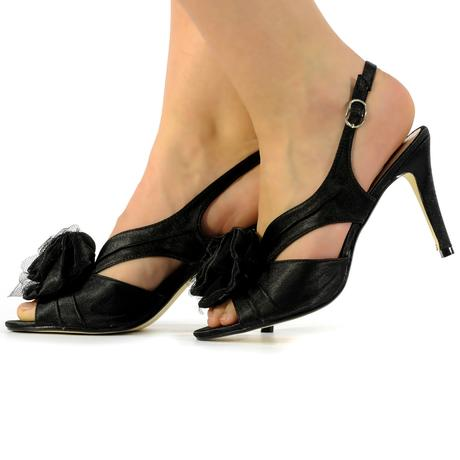 Ivory saténové svatební lodičky, sandálky, 36-41, 37
