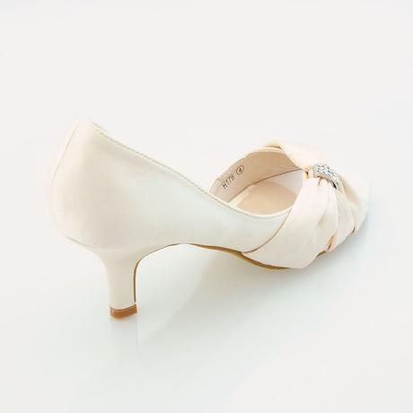 Ivory saténové svatební lodičky, sandálky, 36-41, 36