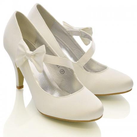 Ivory saténové svatební lodičky, sandálky, 36-41, 38