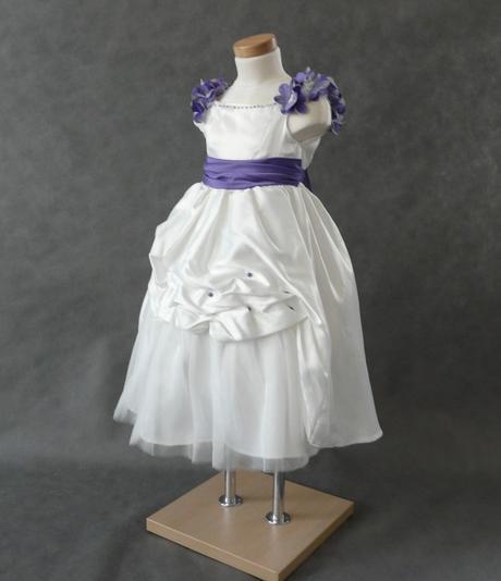 Ivory šaty pro družičky - 3-4 roky a 9-10 let, 104