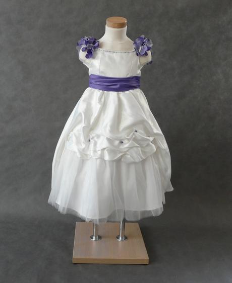 Ivory šaty pro družičky - 3-4 roky a 9-10 let, 134