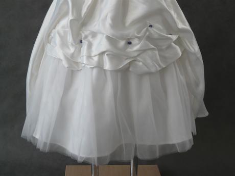 Ivory šaty pro družičky - 3-4 roky a 9-10 let, 140