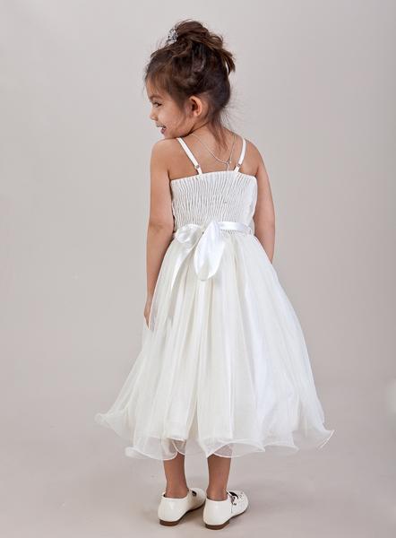 Ivory šaty včetně kruhové spodnice - 1-2 roky, 98