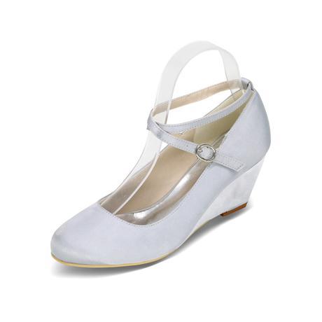 Ivory svatební boty na klínku, 37