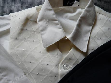 Ivory svatební oblek, 6-9 měsíců - půjčovné, 74
