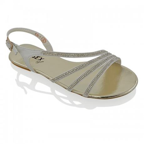 Ivory svatební, plážové sandálky, 36-41, 41