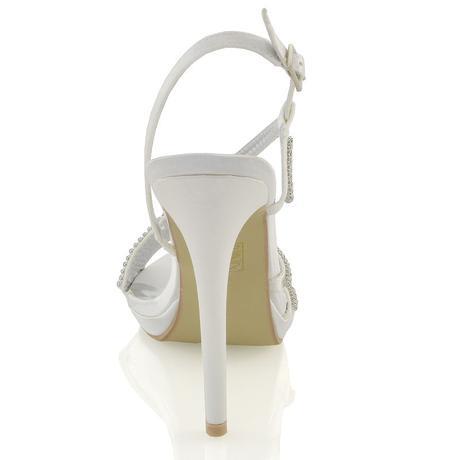 Ivory svatební sandálky, 12cm podpatek, 36-41, 40