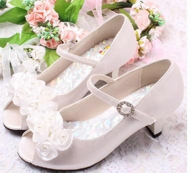 Ivory svatební sandálky, 29-35, 32