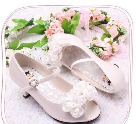 Ivory svatební sandálky, 29-35, 34