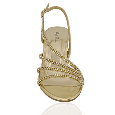 Ivory svatební sandálky, nízký podpatek, 36-41, 37