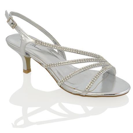 Ivory svatební sandálky, nízký podpatek, 36-41, 40