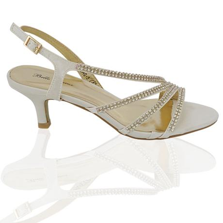 Ivory svatební sandálky, nízký podpatek, 36-41, 41