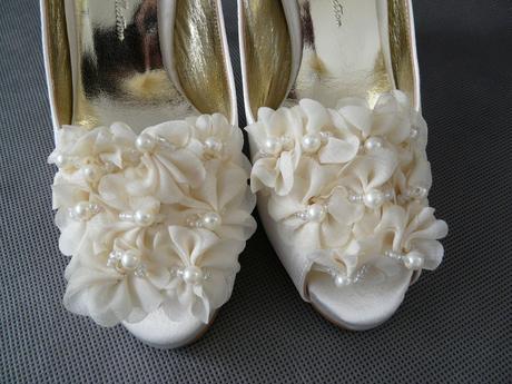 Ivory svatební saténové lodičky - 36, 36