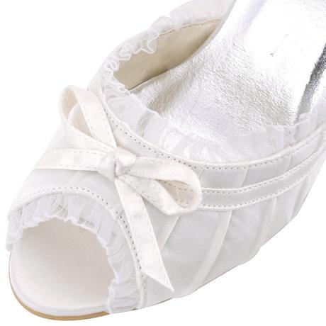 Ivory svatební společenské sandálky, 34-42, 41
