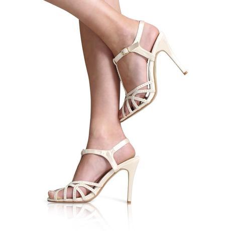 Ivory svatební společenské sandálky, 36-41, 36