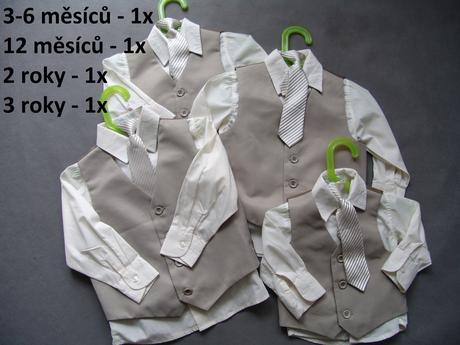 K zapůjčení - béžový oblek, 0-4 roky, různé veliko, 86