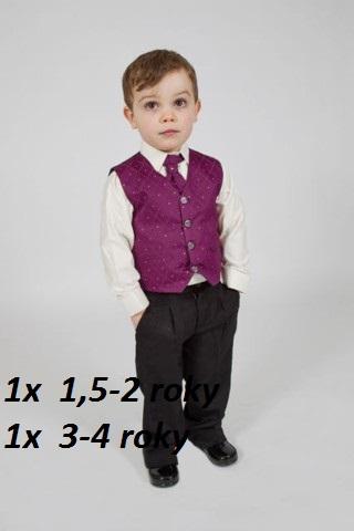 K zapůjčení - fialový oblek, 18-24 měsíců, 92