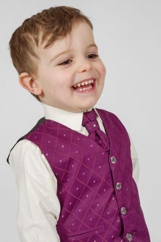 K zapůjčení - fialový oblek, 18-24 měsíců, 98