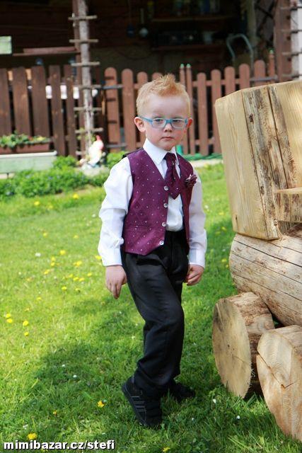 K zapůjčení - fialový oblek, 2-4 roky, 98