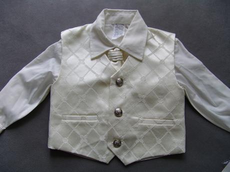 K zapůjčení - ivory oblek, 6-18 měsíců, 74
