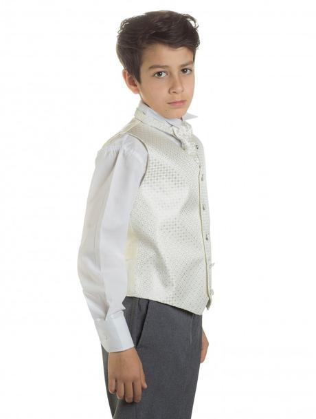 K zapůjčení - ivory oblek, šedé kalhoty, různé vel, 116
