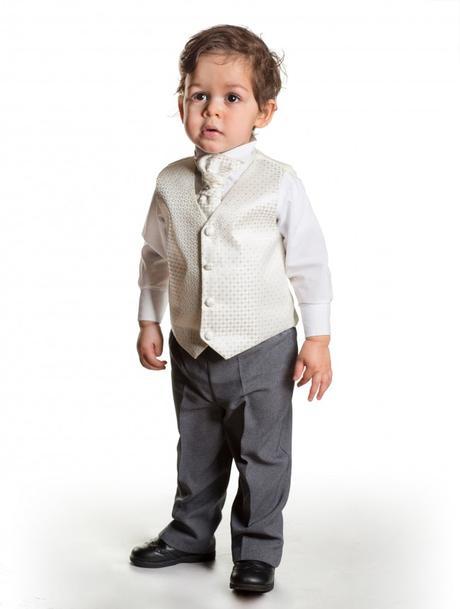 K zapůjčení - ivory oblek, šedé kalhoty, různé vel, 122