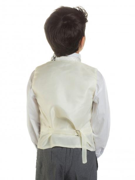 K zapůjčení - ivory oblek, šedé kalhoty, různé vel, 140