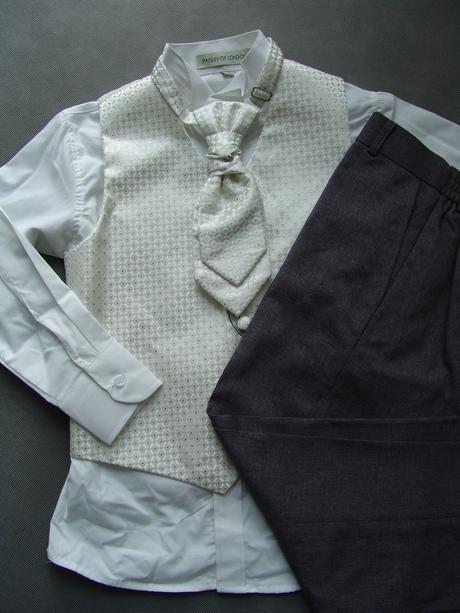 K zapůjčení - ivory oblek, šedé kalhoty, různé vel, 170