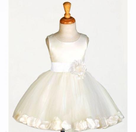 K zapůjčení - ivory šaty, 1-4 roky, 104