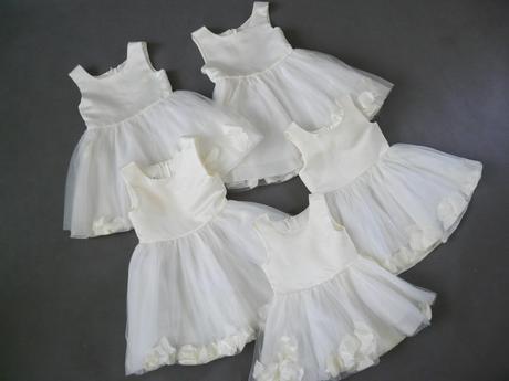 K zapůjčení - ivory šaty, 1-4 roky, 86