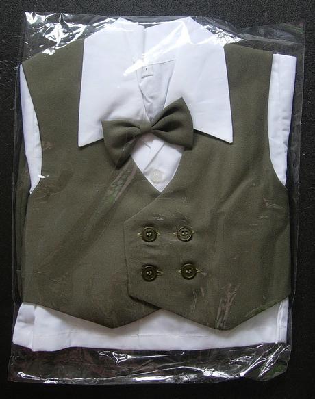 K zapůjčení - khaki letní oblek + capáčky, 68