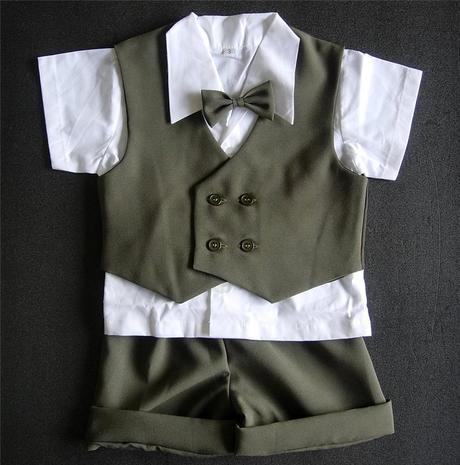 K zapůjčení - khaki letní oblek + capáčky, 80