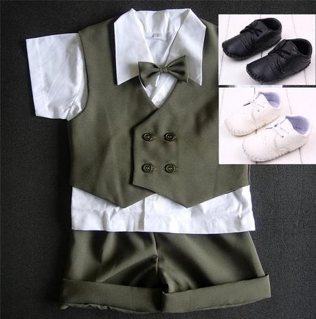 K zapůjčení - khaki letní oblek + capáčky, 98