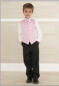 K zapůjčení - růžovo-stříbrný oblek, 1-2 roky, 92