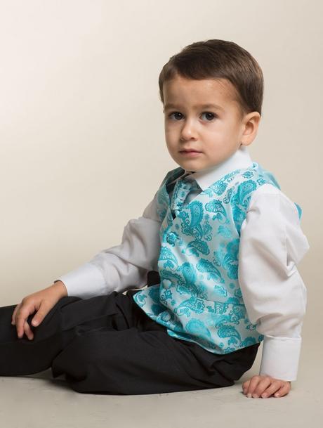 K zapůjčení - tyrkysový (modrý) oblek, 0-6,11,12, 146