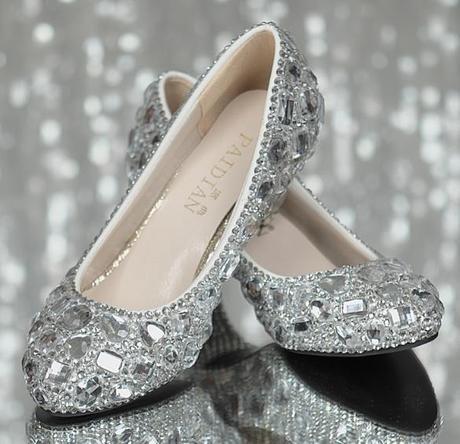 Kamínkové svatební balerínky, 35-40, 35