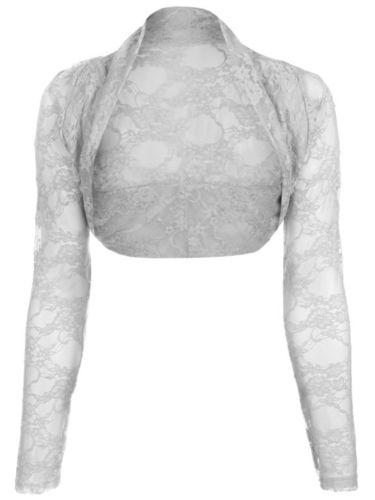 Krajkové bílé svatební bolerko, S-L, 42