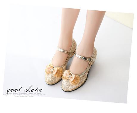 Krajkové dětské boty s podpatkem, 26-37, 29