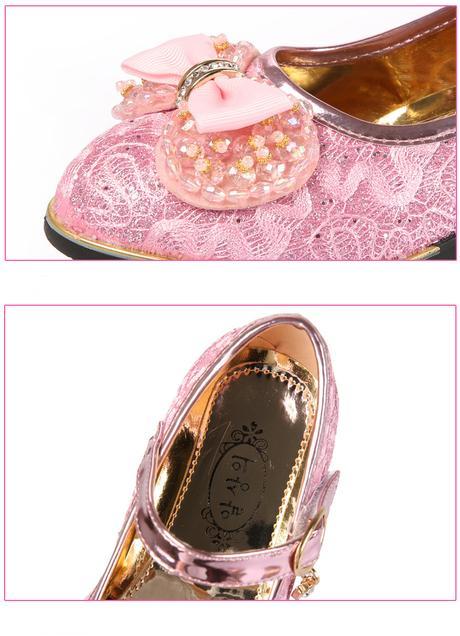 Krajkové dětské boty s podpatkem, 26-37, 30