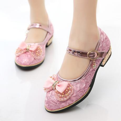 Krajkové dětské boty s podpatkem, 26-37, 32
