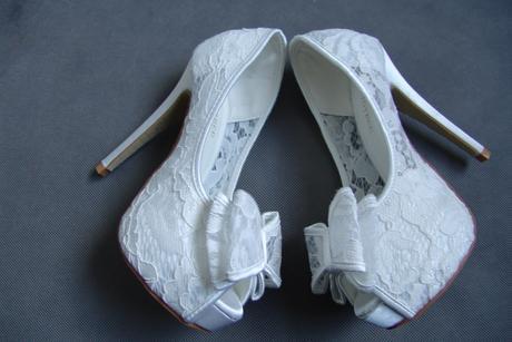 Krajkové svatební lodičky, vysoký podpatek, 35-39, 37