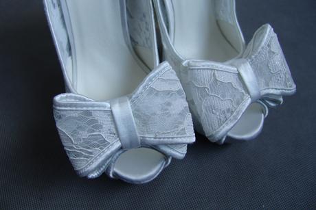 Krajkové svatební lodičky, vysoký podpatek, 35-39, 36