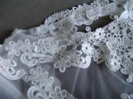 Krajkové svatební šaty, XS-XL, reálné foto , 38