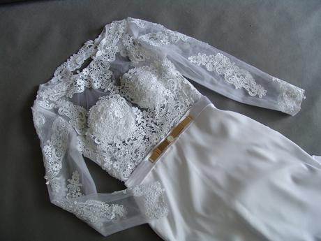 Krajkové svatební šaty, XS-XL, reálné foto , 40