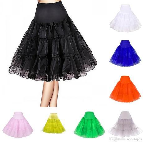 Krátká retro spodnice - různé barvy,