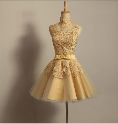 Krátké champagne společenské šaty, popůlnočky, 38