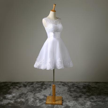 Krátké svatební šaty, popůlnočky, 36