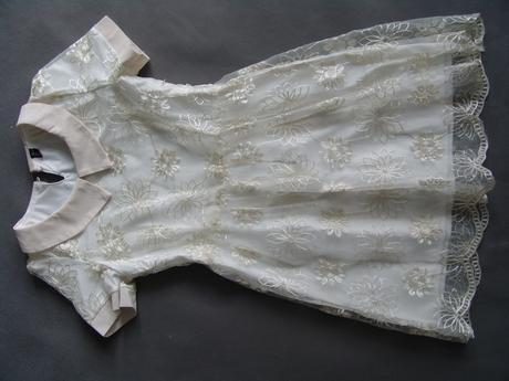 Krémové, ivory šaty pro družičky, 11-15 let, 146